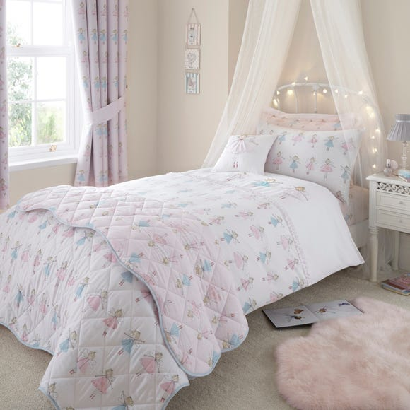 Fairies Pink Duvet Cover and Pillowcase Set Pink undefined