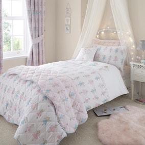Fairies Pink Duvet Cover and Pillowcase Set