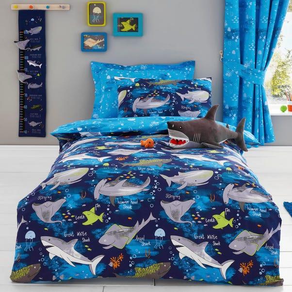 Sharks Reversible Duvet Cover and Pillowcase Set  undefined