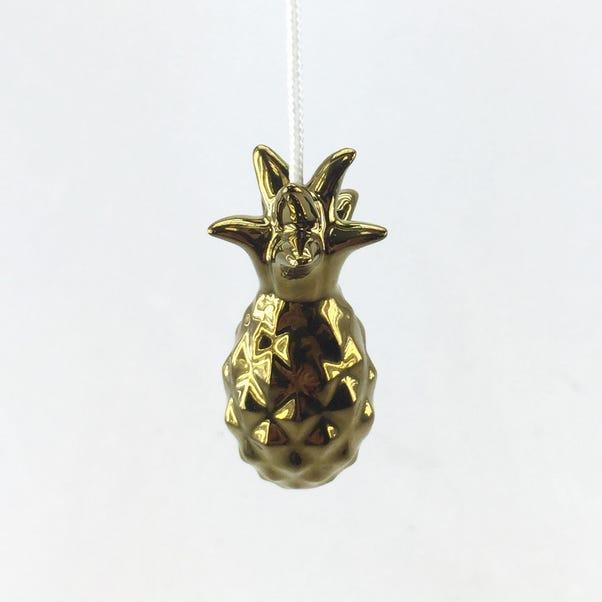 Gold Pineapple Light Pull Gold