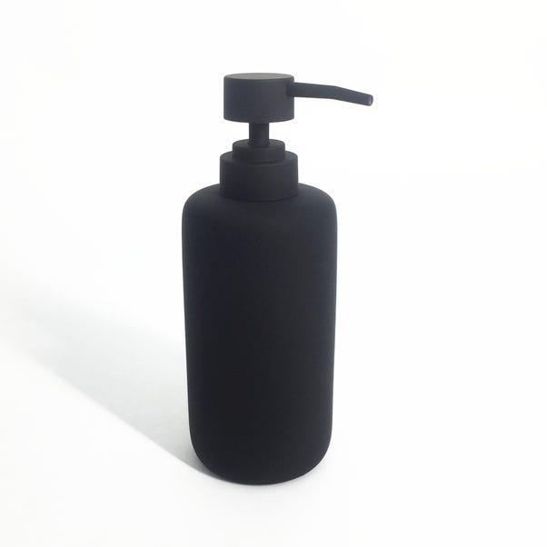 Elements Matt Black Lotion Dispenser Black