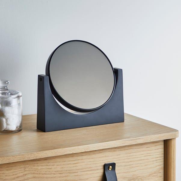 Elements Matt Black Pedestal Mirror Black