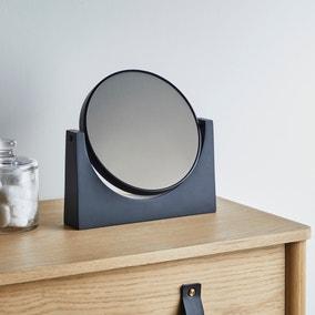 Elements Matt Black Pedestal Mirror