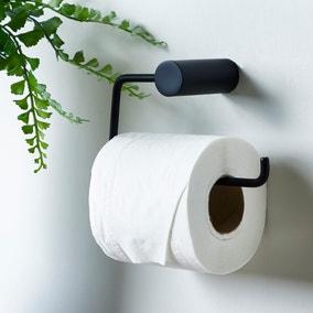 Elements Matt Black Toilet Roll Holder