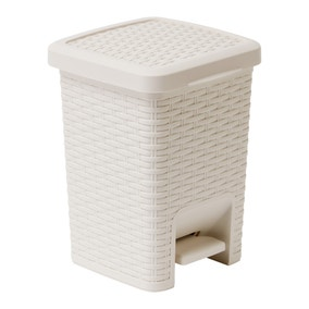 Addis Rattan Natural Pedal Bin