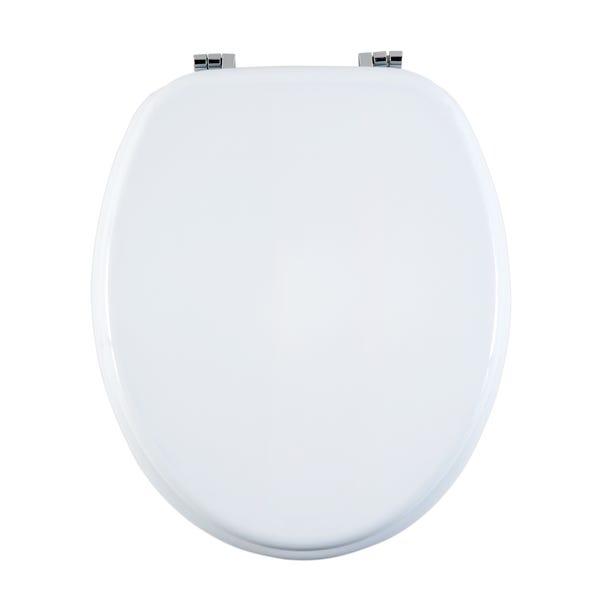 White MDF Toilet Seat White