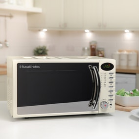 Russell Hobbs 17L 700W Cream Digital Microwave