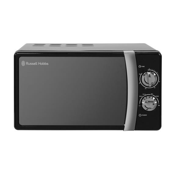 Russell Hobbs Colours 700W 17L Jet Black Manual Microwave Black