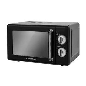 Russell Hobbs Retro 700W 17L Black Manual Microwave