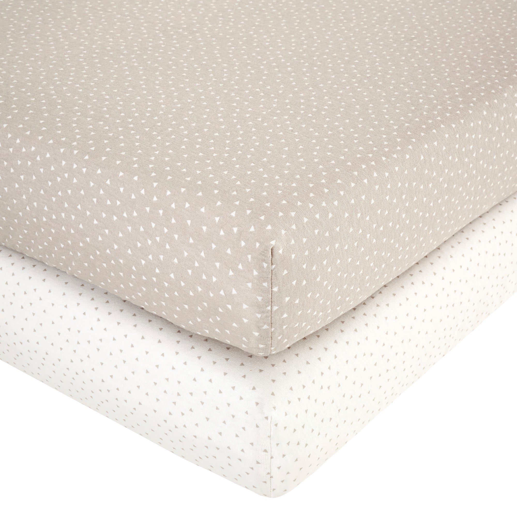 Photo of Bear hugs pack of 2 cot bed fitted sheets natural