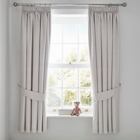 Bear Hugs Blackout Pencil Pleat Curtains