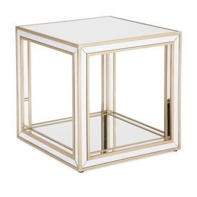 Harriet Mirrored Open Side Table