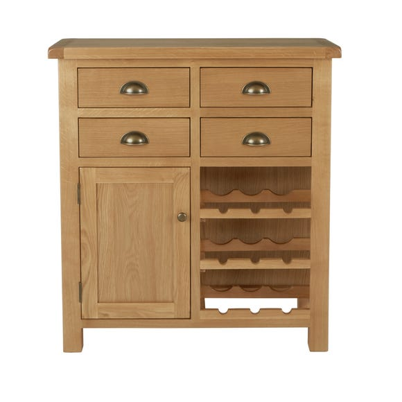 Sherbourne Oak Wine Cabinet Natural