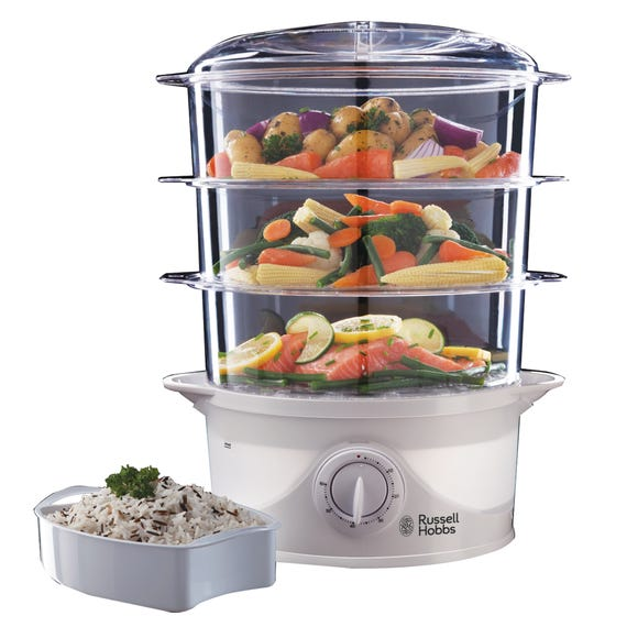 Russell Hobbs Food Collection 3 Tier Food Steamer White
