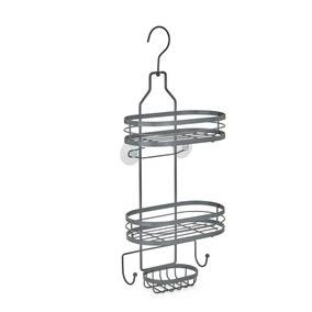 2 Tier Grey Hanging Shower Caddy