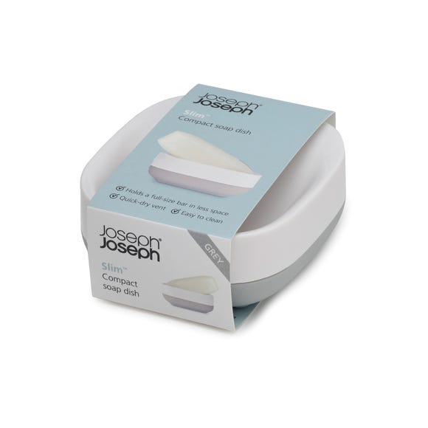 Joseph Joseph Grey Compact Soap Dish Grey