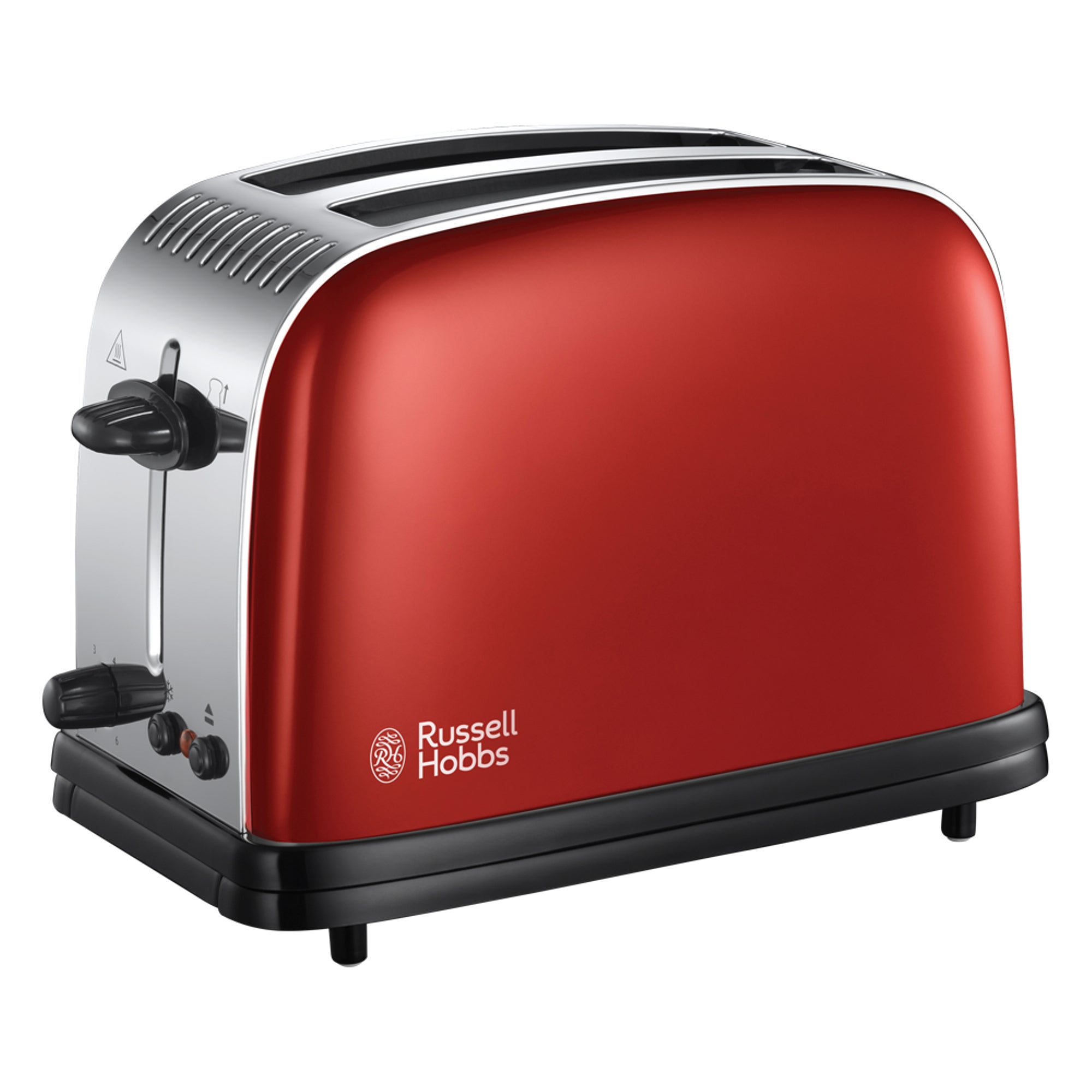 Russell Hobbs Colours Plus 2 Slice Flame Red Toaster Red Black And Silver