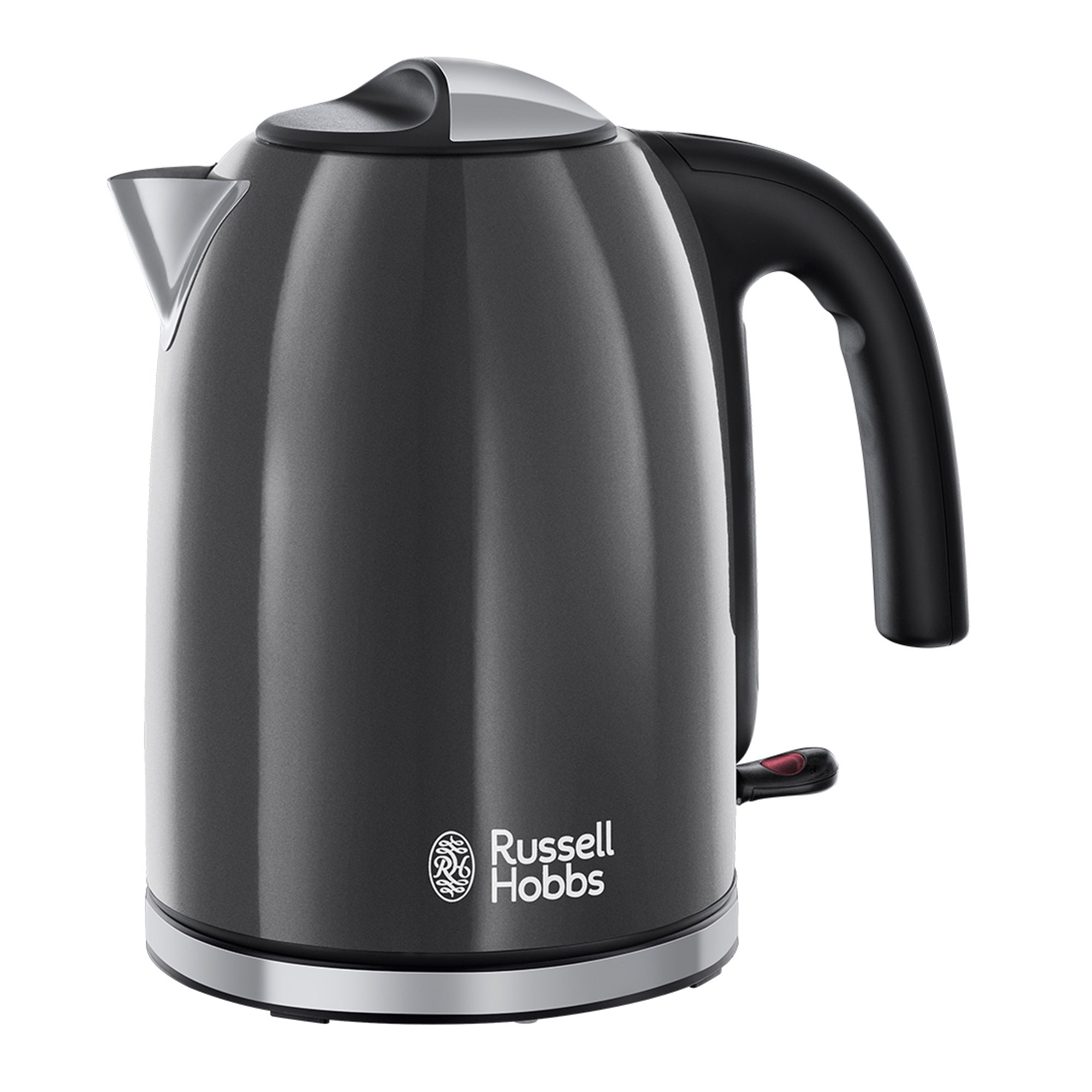 Russell Hobbs Colours Plus 17l Storm Grey Kettle Grey Black And Silver