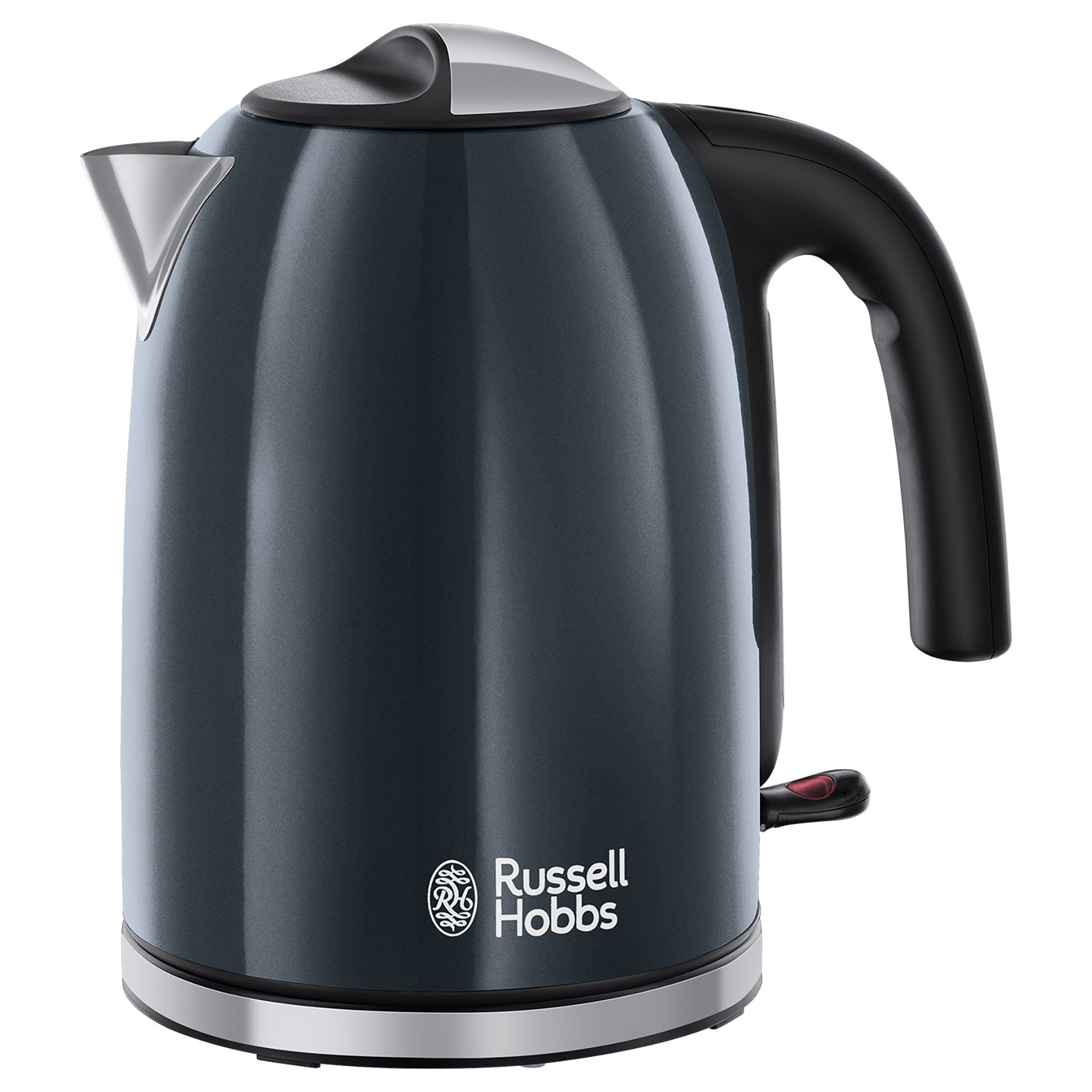 Click to view product details and reviews for Russell Hobbs Colours Plus 17l Storm Grey Kettle Grey Black And Silver.