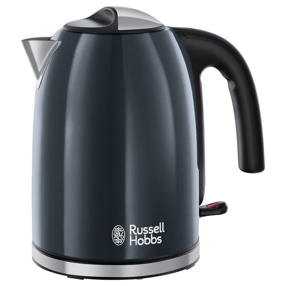 Russell Hobbs Colours Plus 1.7L Storm Grey Kettle Grey