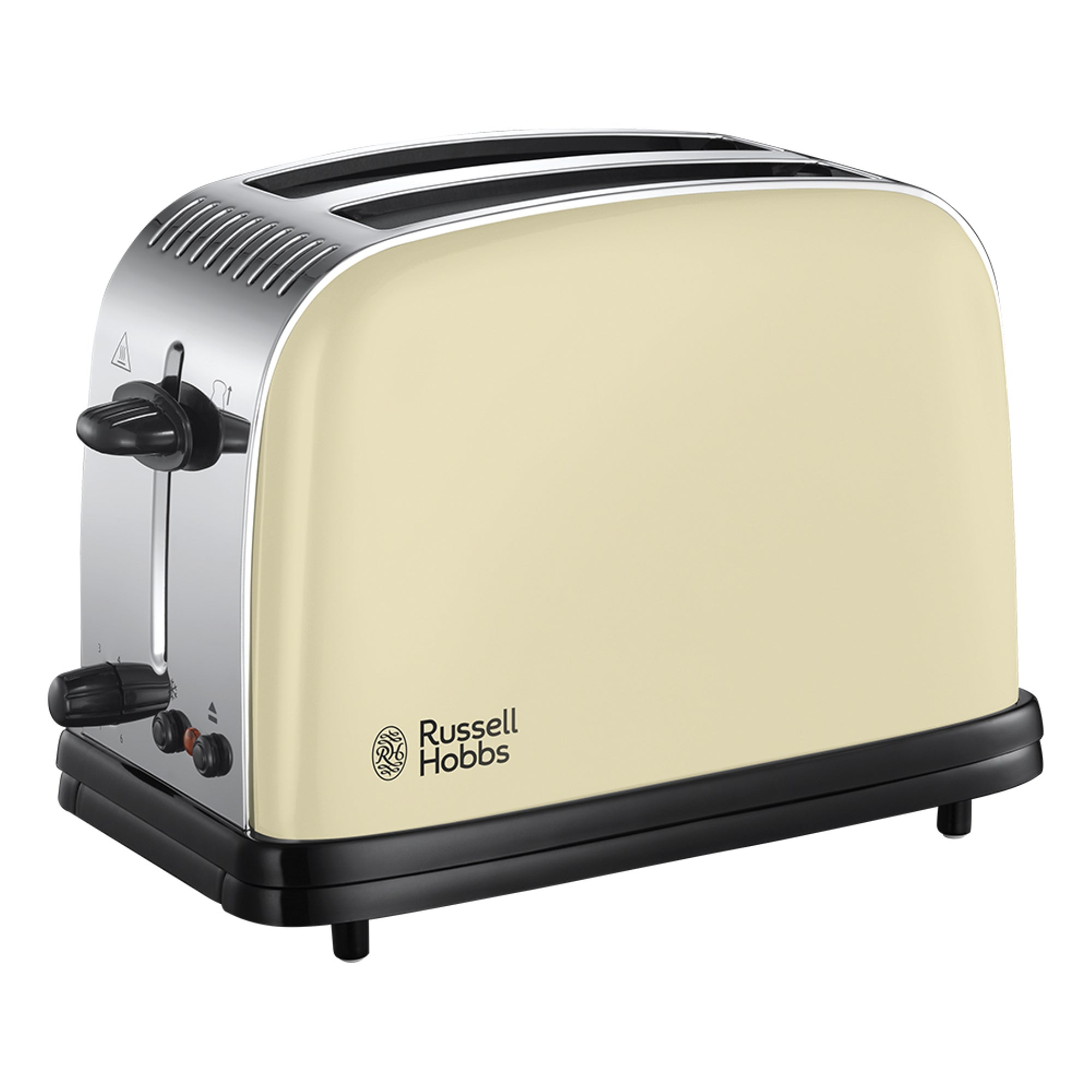 Russell Hobbs Colours Plus 2 Slice Cream Toaster Cream And Silver