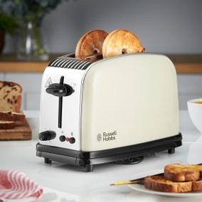 Russell Hobbs Colours Plus 2 Slice Cream Toaster