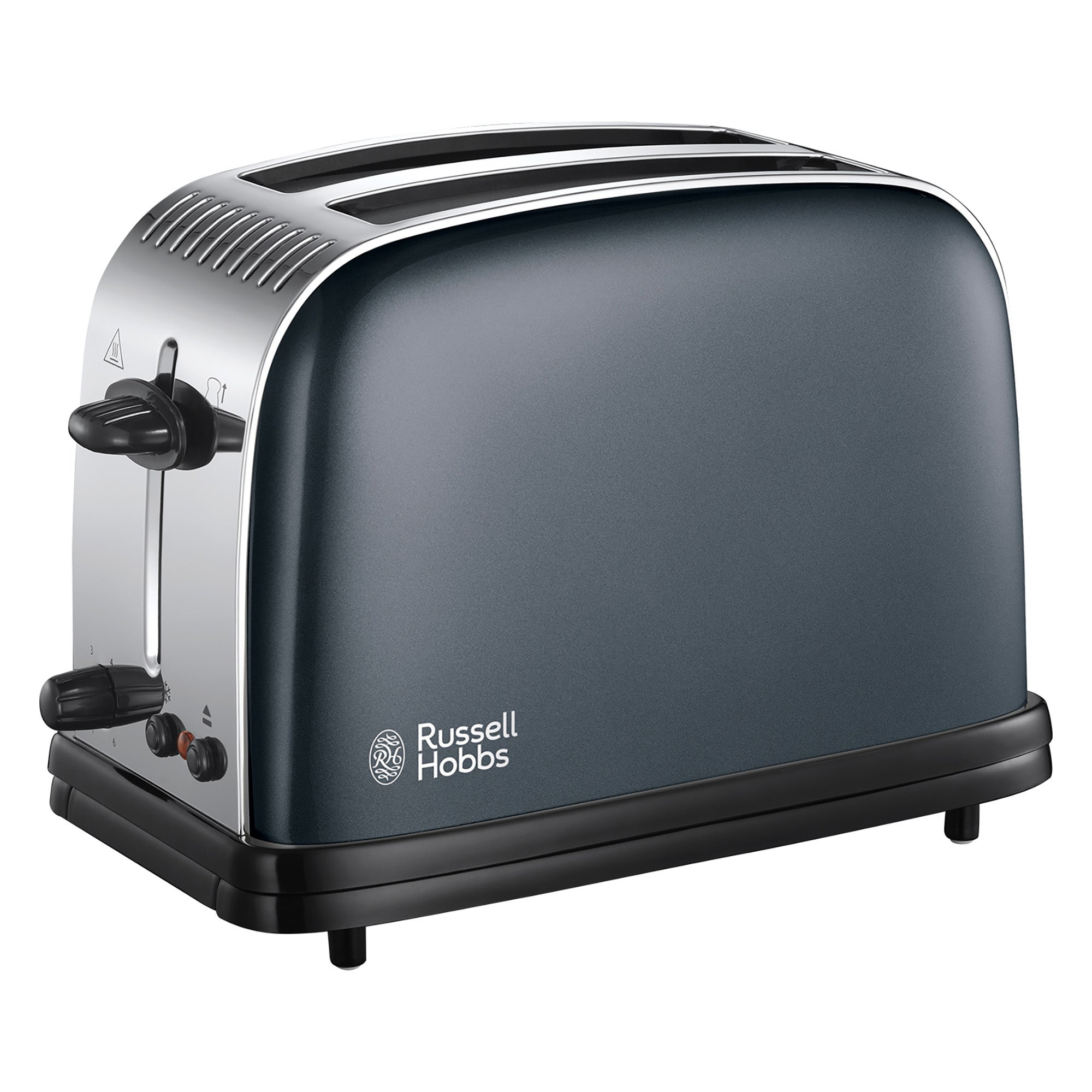 Click to view product details and reviews for Russell Hobbs Colours Plus 2 Slice Storm Grey Toaster Grey And Black.