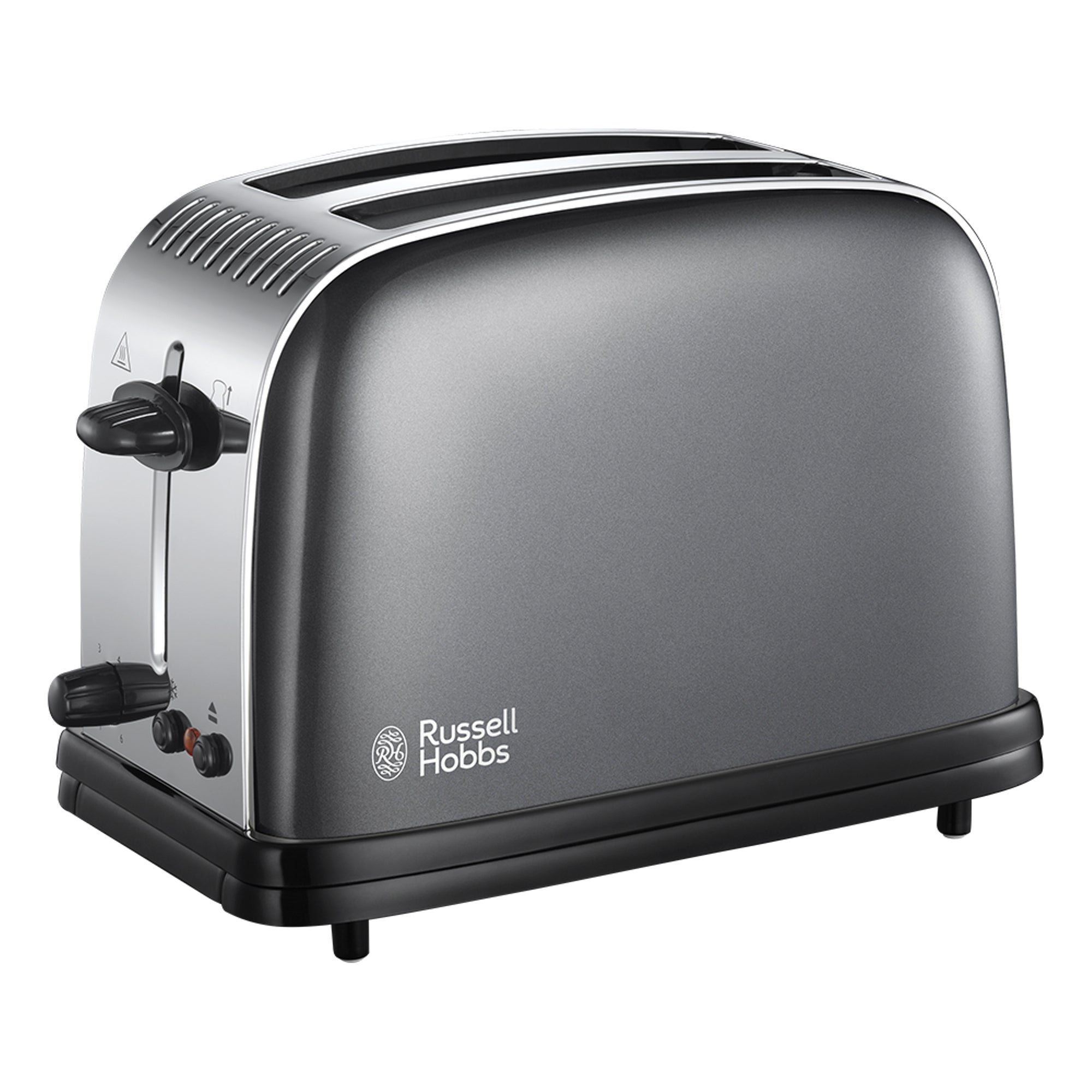 Russell Hobbs Colours Plus 2 Slice Storm Grey Toaster Grey And Black