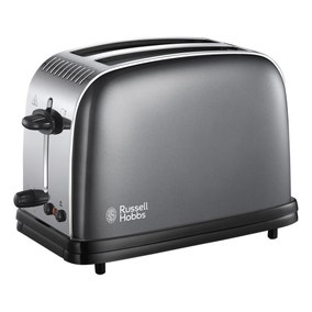 Russell Hobbs Colours Plus 2 Slice Storm Grey Toaster