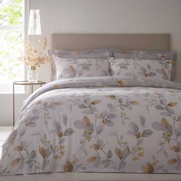 Kasia Grey Reversible Duvet Cover and Pillowcase Grey undefined