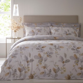 Kasia Grey Reversible Duvet Cover and Pillowcase