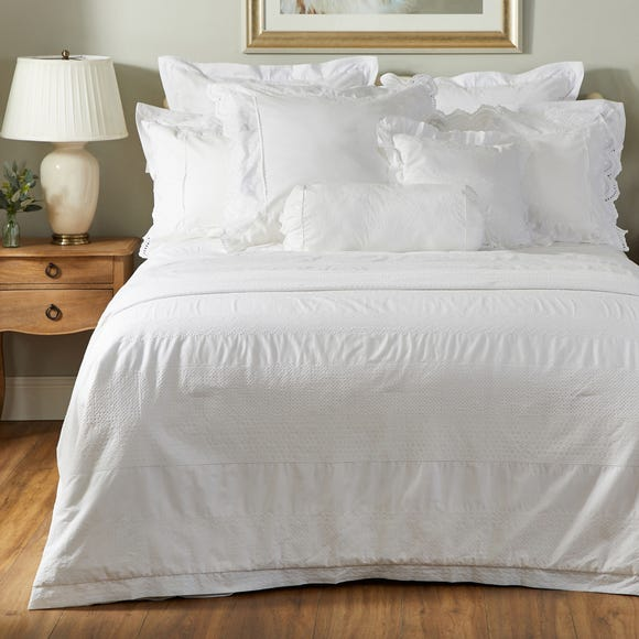 Dorma Alice 100% Cotton Broderie Anglaise Duvet Cover  undefined