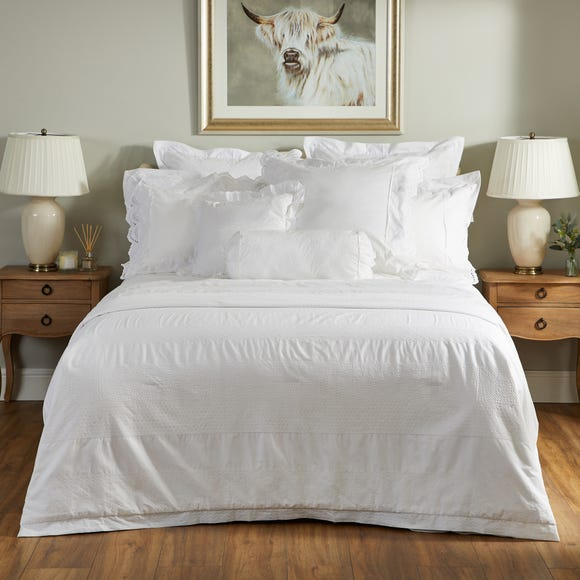 Dorma Alice Quilted Bedspread White undefined