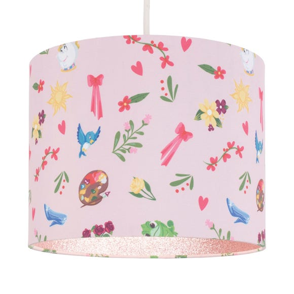 Disney Princess Glitter Lined Pendant Shade Pink