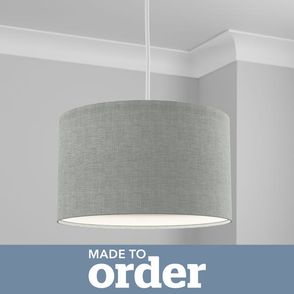 Made to Order 40cm Drum Shade Linoso Duck Egg