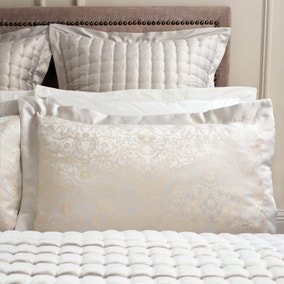 Dorma Tatianna Natural Oxford Pillowcase Pair