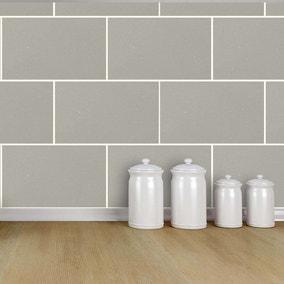 London Tile Grey Mist Wallpaper