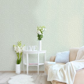Ash Branch Light Moss Wallpaper