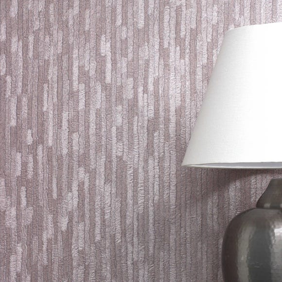 Bergamo Leather Texture Rose Gold Wallpaper Pink