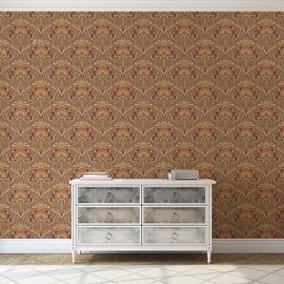 Flora Nouveau Russet Wallpaper