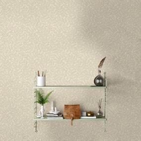 Ash Branch Natural Wallpaper