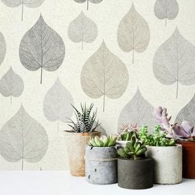 One Leaf Natural Wallpaper