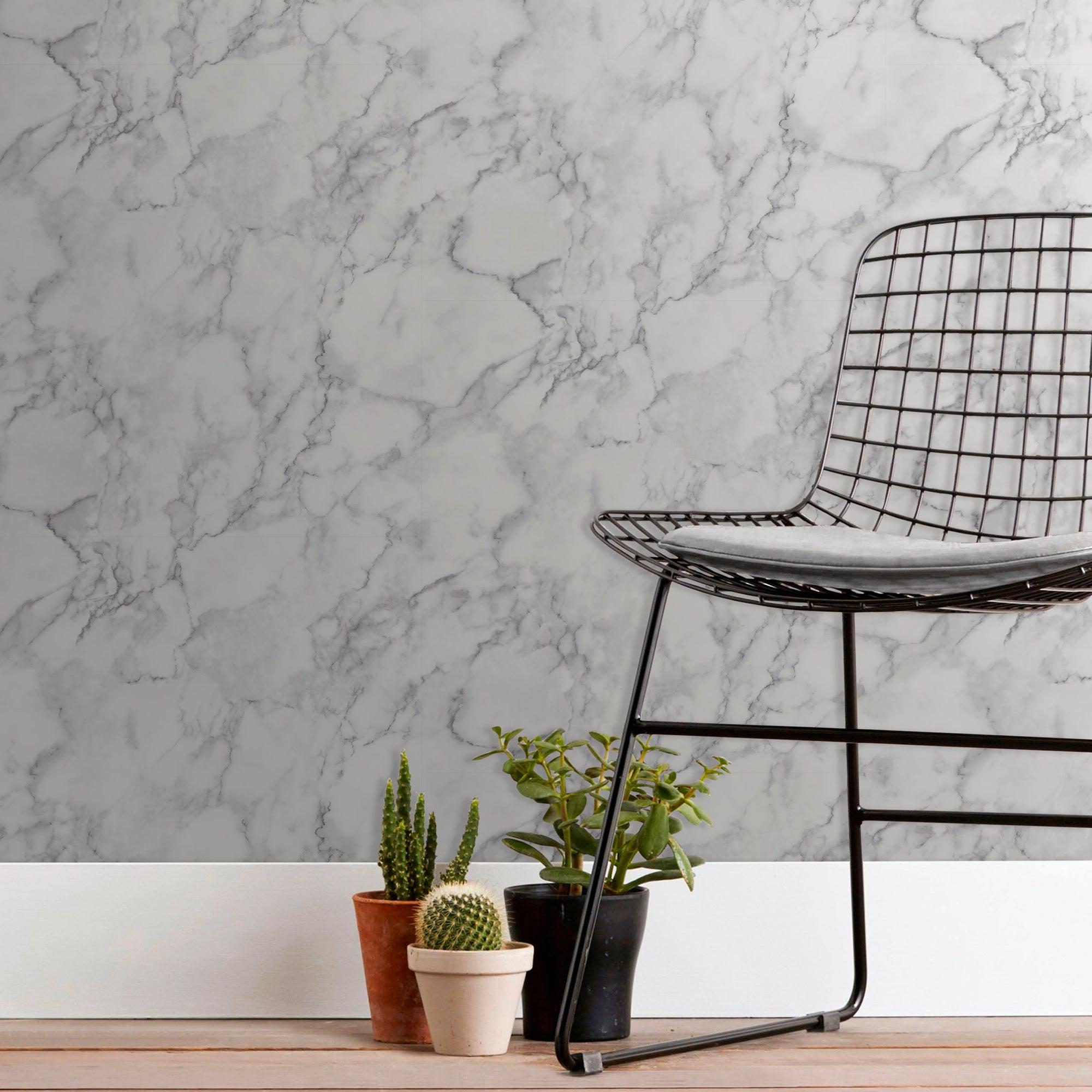 White Marble Wallpaper White