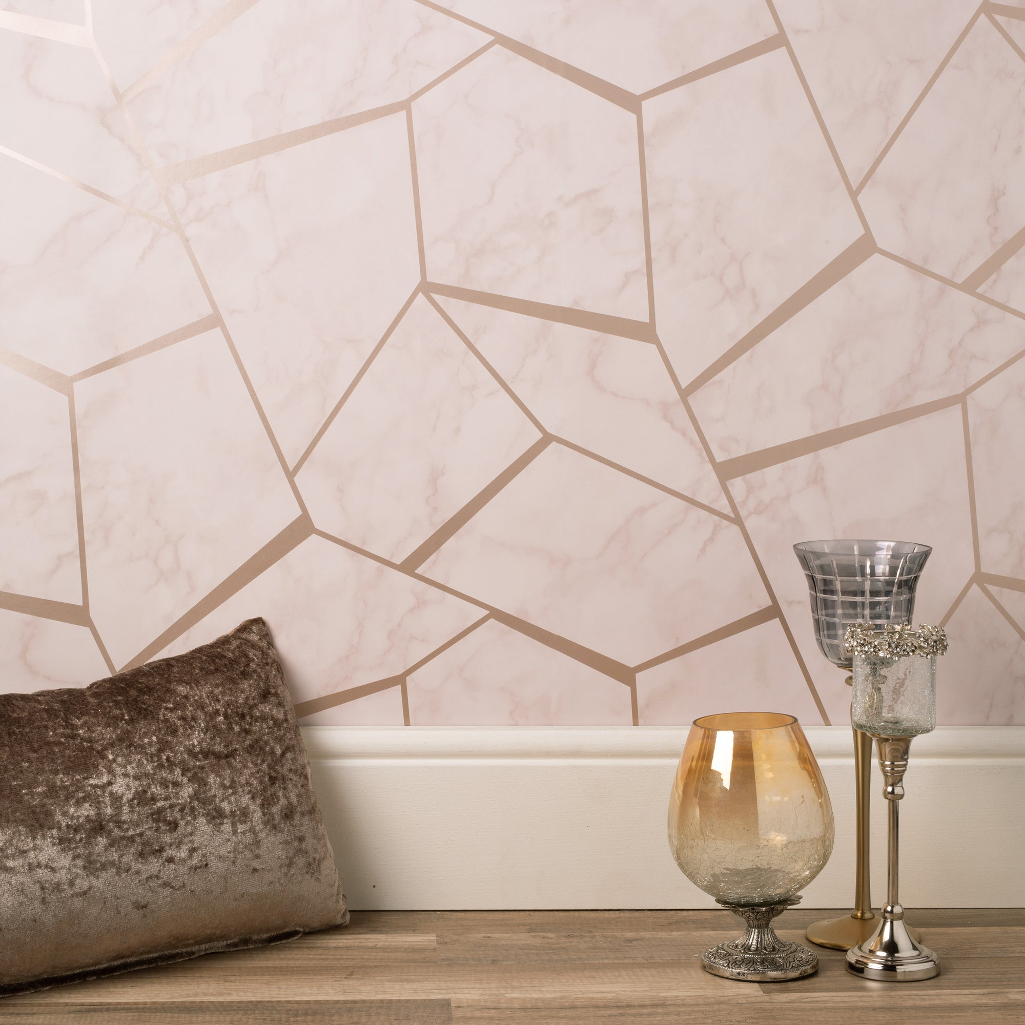 Marblesque Fractal Marble Rose Gold Wallpaper Rose Gold