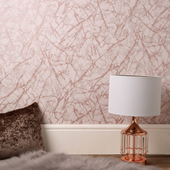 Marblesque Metallic Marble Rose Gold Wallpaper Rose Gold