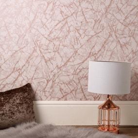 Marblesque Metallic Marble Rose Gold Wallpaper