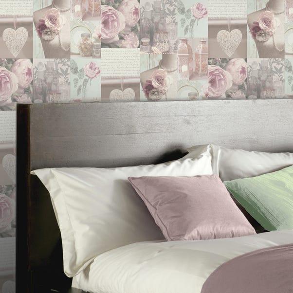 Charlotte Blush Wallpaper Pink