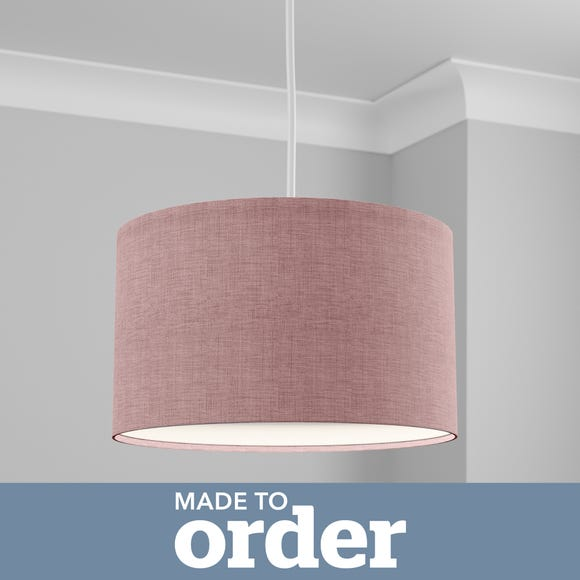 Made to Order 40cm Drum Shade Linoso Heather