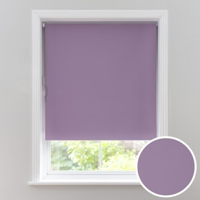 Mauve Cordless Blackout Roller Blind