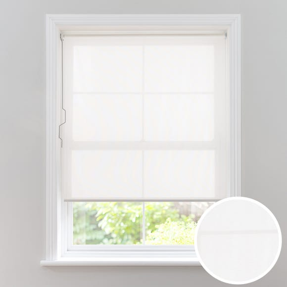 White Sheer Cordless Roller Blind White undefined